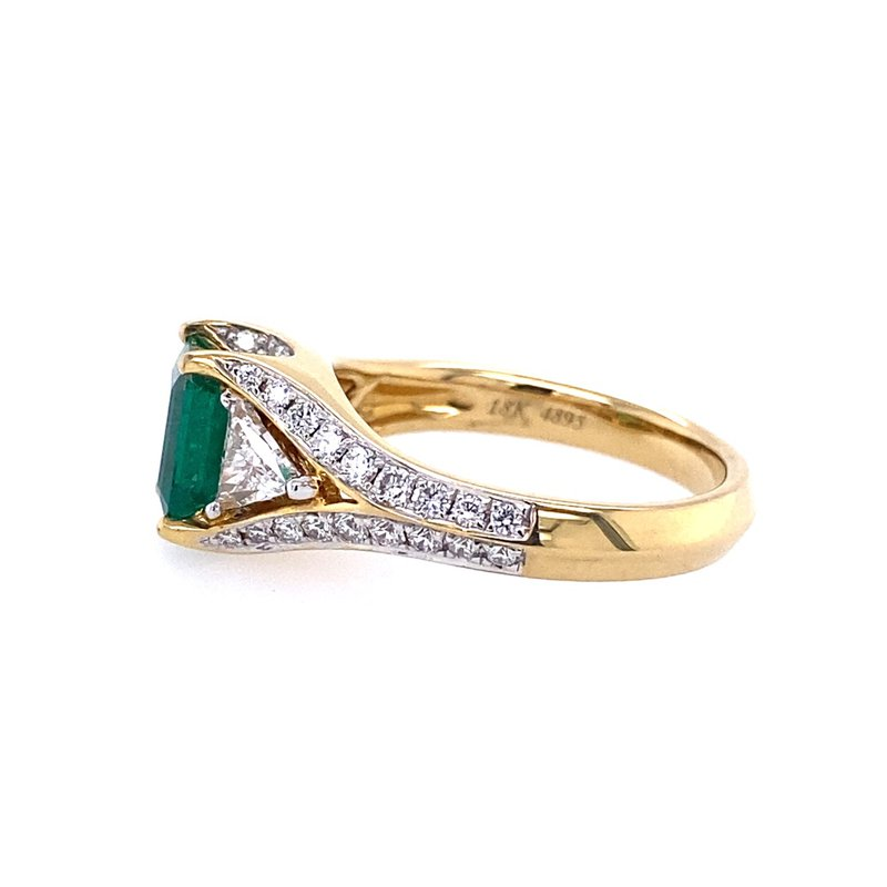 Spark Creations Emerald & Diamond Ring