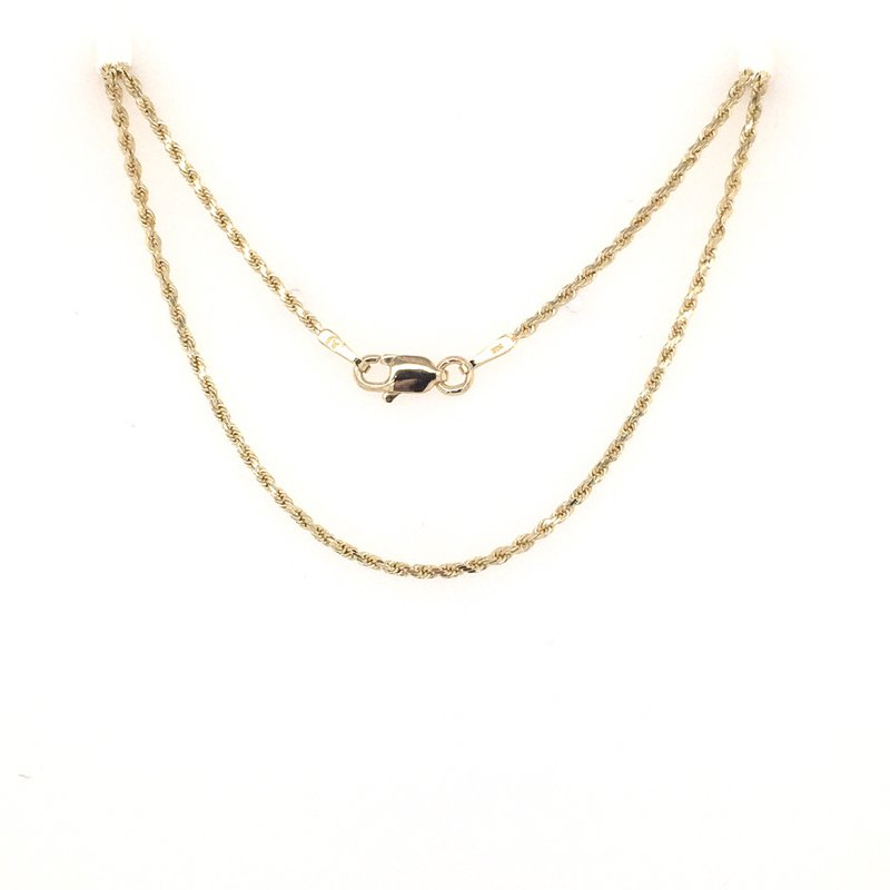 B&C Estate Collection Diamond Cut Rope Chain