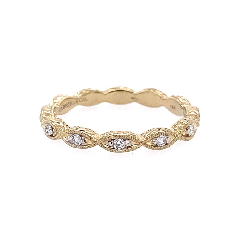 Gabriel & Co. -  IN-STORE COLLECTION Marquis Stackable Diamond Band