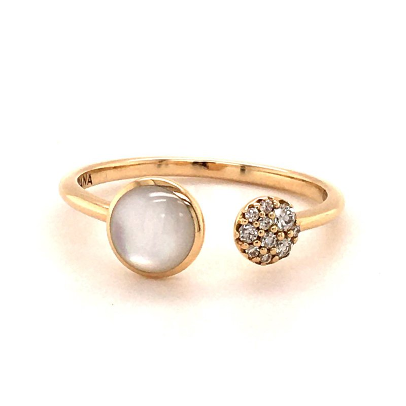 Kabana Mother of Pearl & Diamond Ring