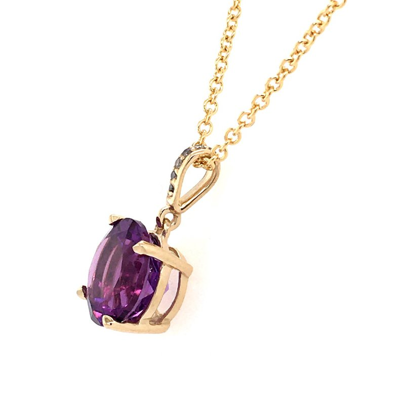 B&C Collections Amethyst Solitaire Pendant