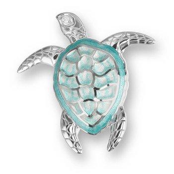 Green Turtle Brooch/Pendant