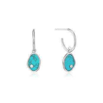 Tidal Turquoise Mini Hoops