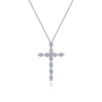 Scalloped Diamond Cross