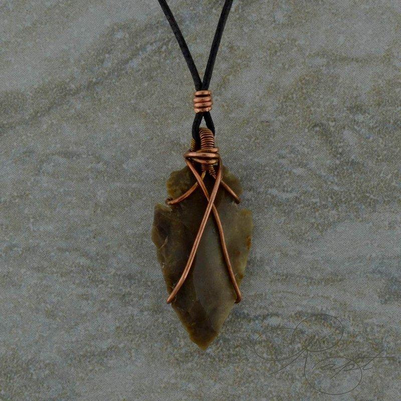 Rapt  Arrowhead Copper Wrapped Pendant