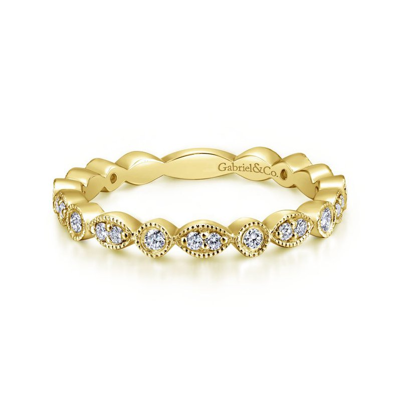 Gabriel & Co. -  IN-STORE COLLECTION Diamond Stackable Ring