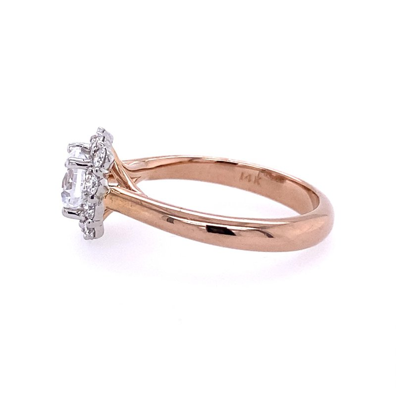 B&C Collections Halo Diamond Engagement Ring
