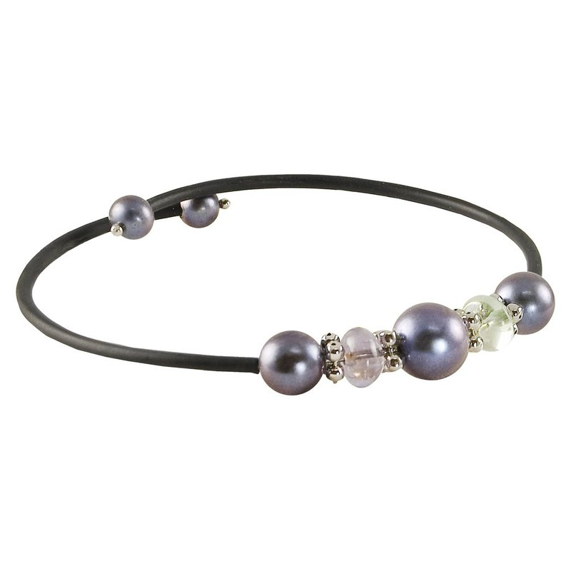 Imperial Pearl Rubber Pearl Bangle