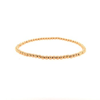 Stretch 3 MM Gold Filled Bead Bracelet