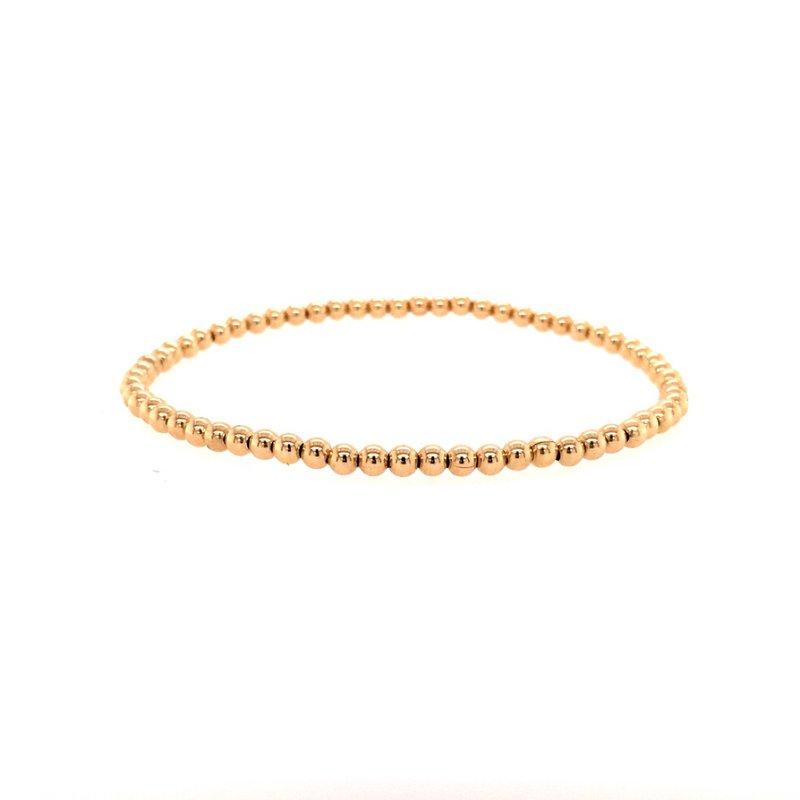 Karen Lazar Stretch 3 MM Gold Filled Bead Bracelet