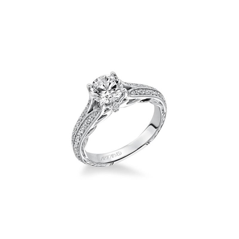BRIAN'S VAULT Double Row Diamond Engagement Ring