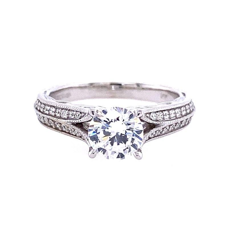 BRIAN'S VAULT Double Row Diamond Engagement Ring