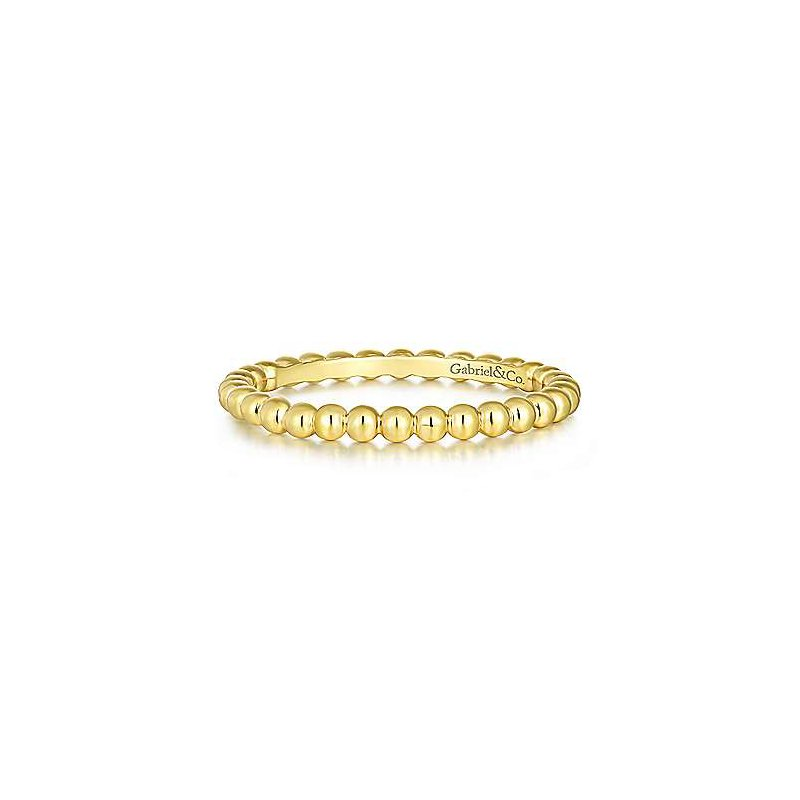 Gabriel & Co. -  IN-STORE COLLECTION Bujukan Beaded Stackable Band