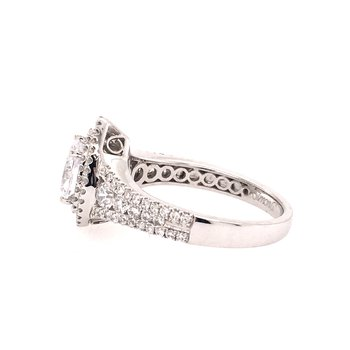 White Gold Pear Shaped Diamond Engagement Ring