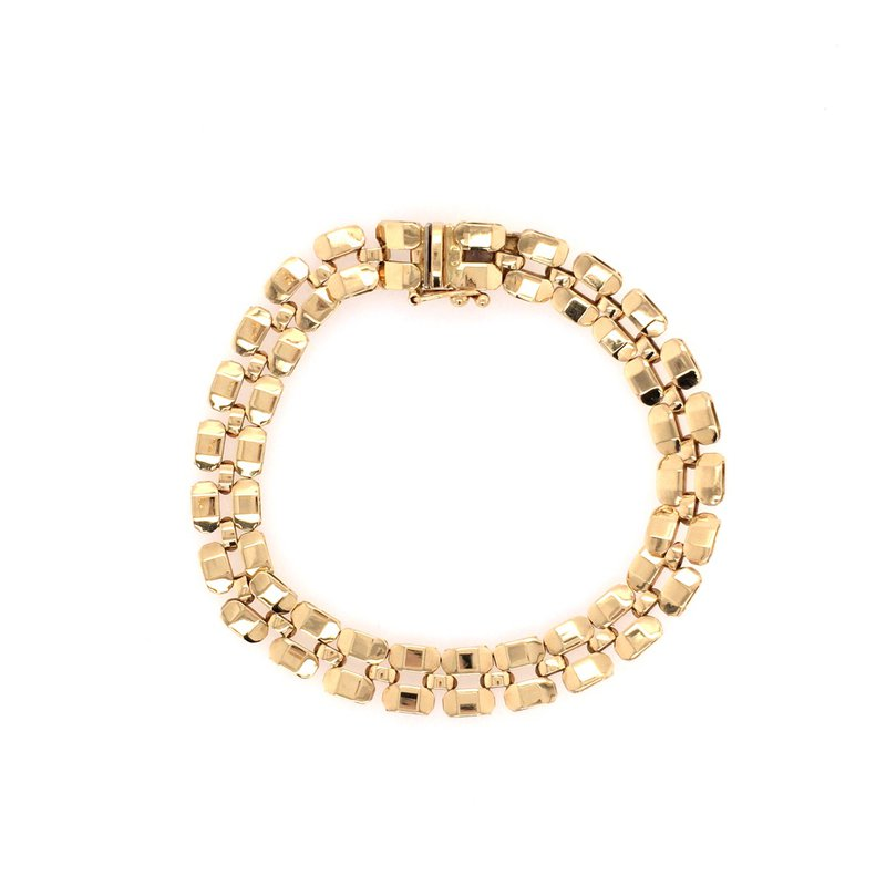 B&C Estate Collection Gold Polished Link Bracelet