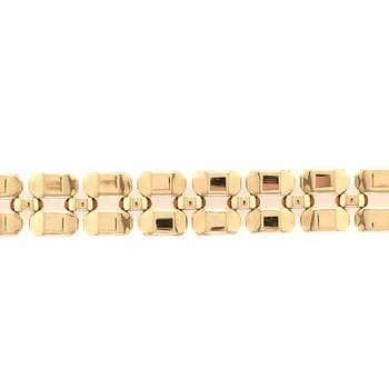 Gold Polished Link Bracelet