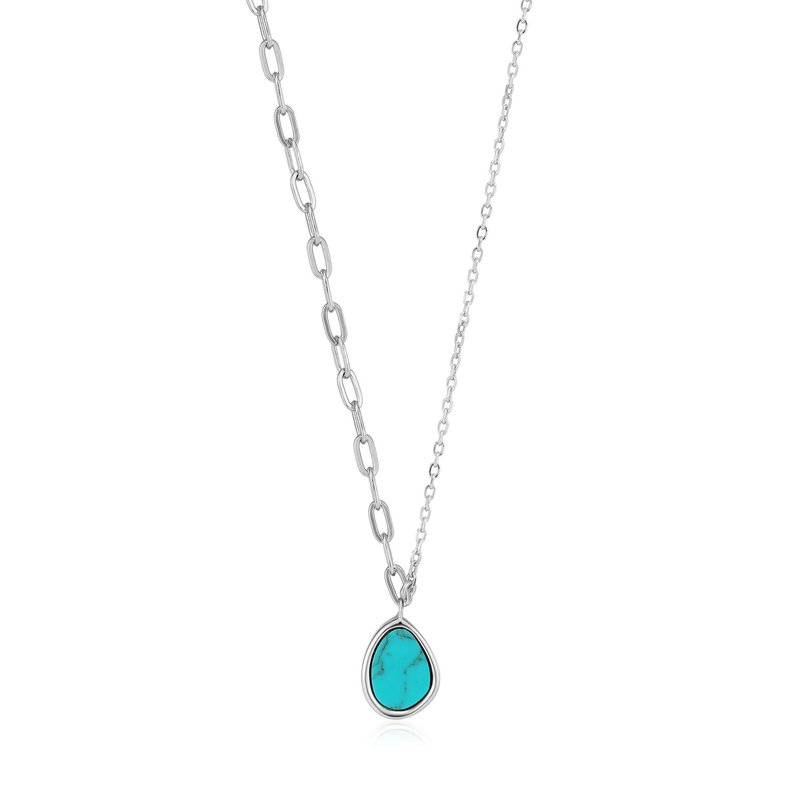 Ania Haie Turquoise Mixed Link Necklace