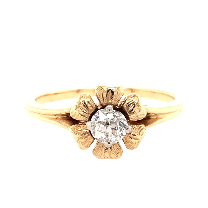 B&C Estate Collection Diamond Floral Ring