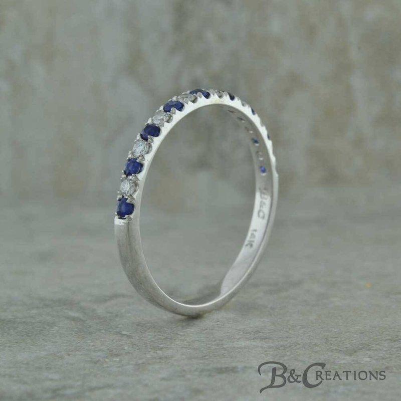 B&C Creations Diamond and Sapphire Band