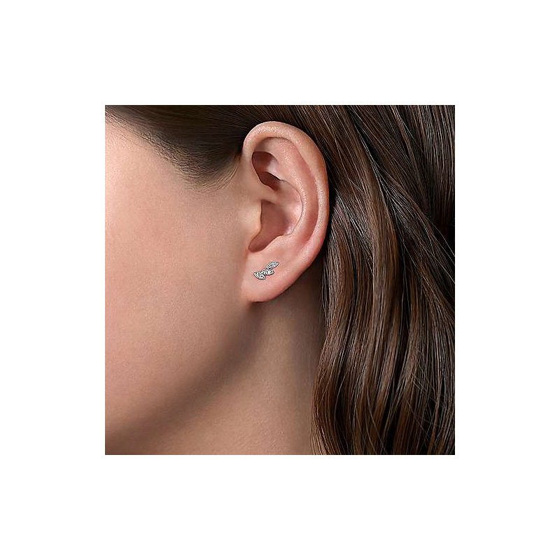 Gabriel & Co. -  IN-STORE COLLECTION Triple Station Diamond Studs
