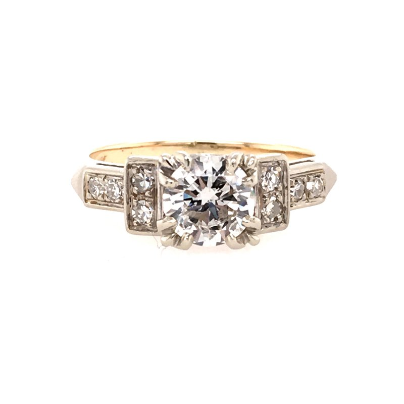 B&C Estate Collection Two Tone Engagement Ring
