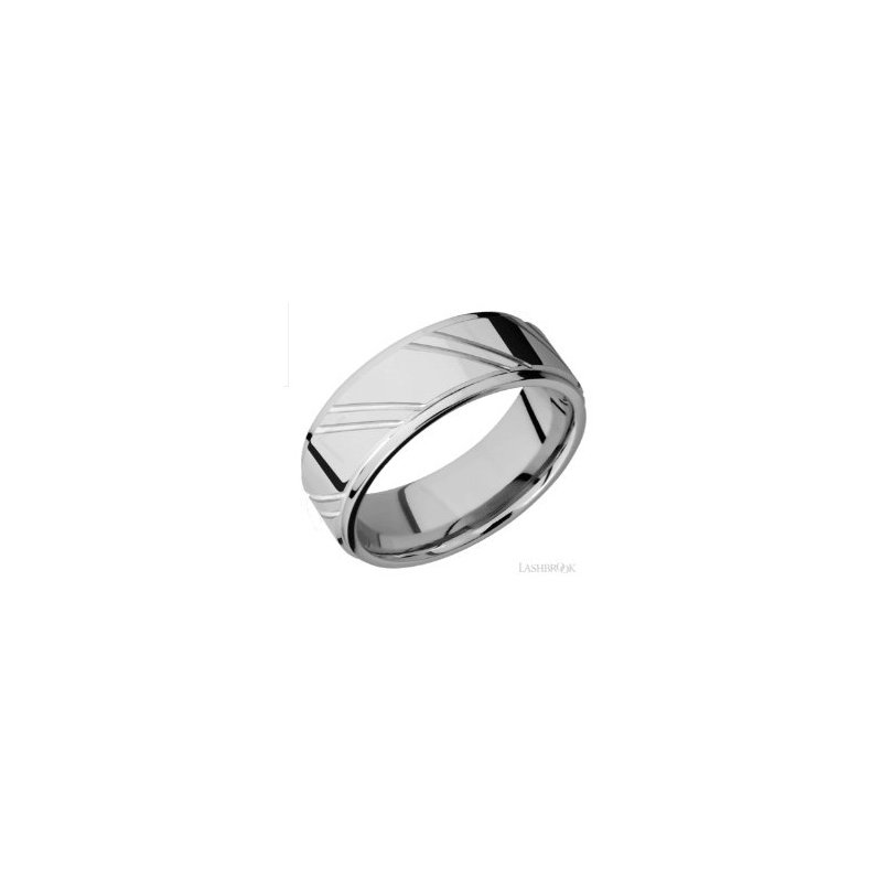 Lashbrook Designs Cobalt Chrome 5mm Striped Band