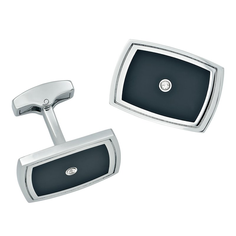 B&C Collections Diamond Accented Cufflinks