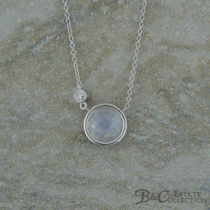 B&C Creations Diamond Solitaire Necklace