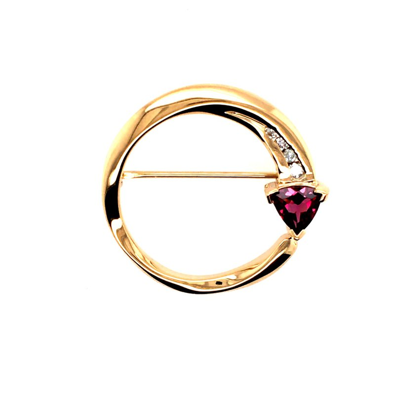 B&C Estate Collection Garnet and Diamond Pin