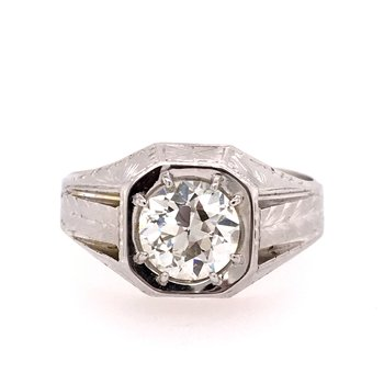 1 1/2 Carat Diamond Gents Ring