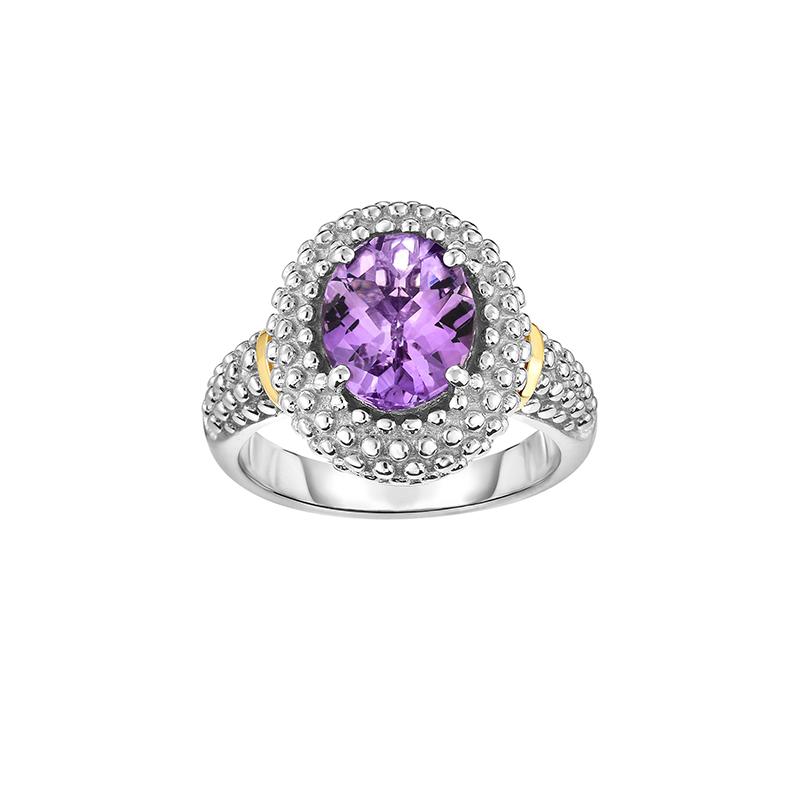 Phillip Gavriel Popcorn Style Amethyst Ring