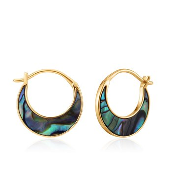 Abalone Crescent Hoops