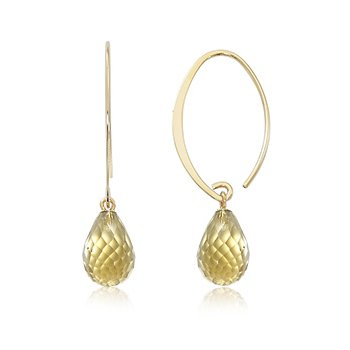 Simple Sweep Citrine Earrings