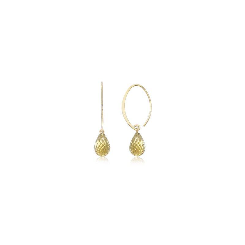 Carla Simple Sweep Citrine Earrings