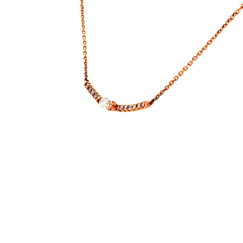B&C Collections Diamond Bar Necklace