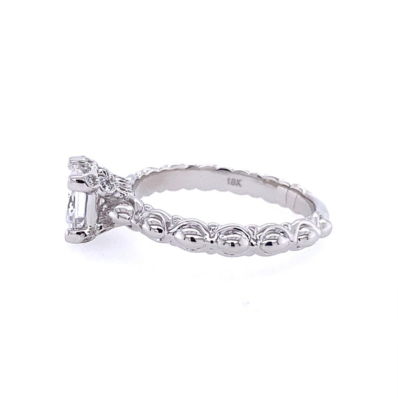 B&C Collections Scalloped Princess Cut Engagement Ring