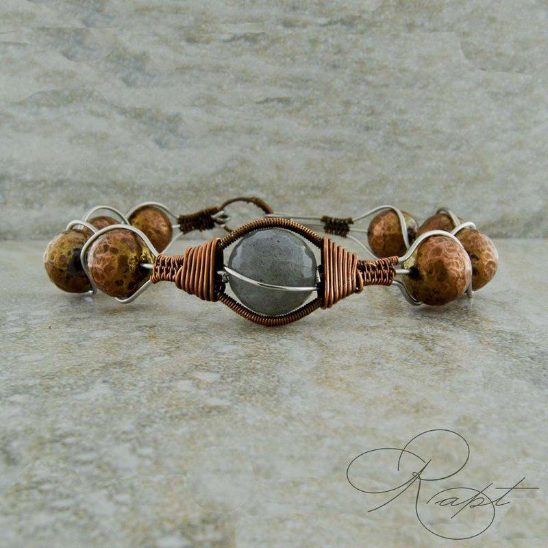 Rapt  Copper Bead and Labradorite Bracelet