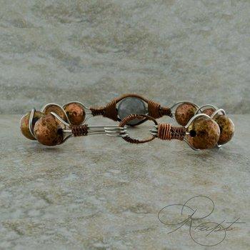 Copper Bead and Labradorite Bracelet