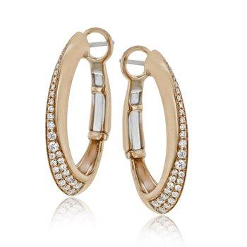 18KR Diamond Hoops