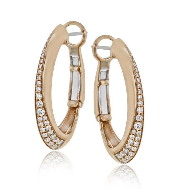 Simon G IN-STORE COLLECTION 18KR Diamond Hoops