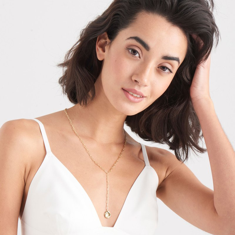 Ania Haie Crush Disc Y Necklace