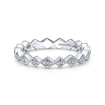 Diamond Geometric Stackable Bamd