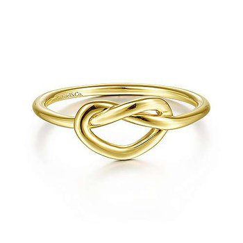 Gold Pretzel Knot Ring