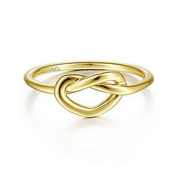 Gold Pretzel Knot Ring