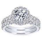 Gabriel & Co. - Bridal Round Halo Engagement RIng