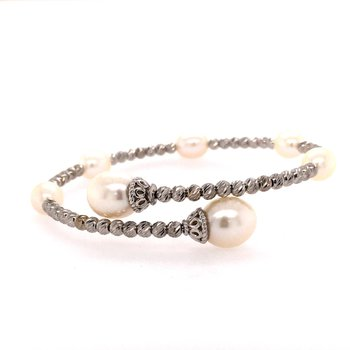 FW Pearl and Brilliance Bead Station Bracelet