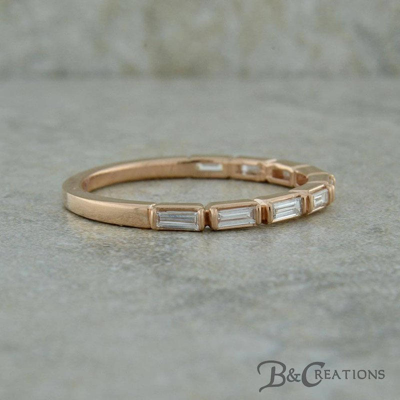 B&C Collections Baguette Station Diamond Band