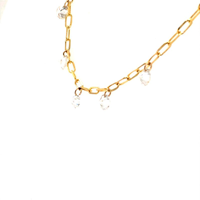 B&C Collections Diamond Dash Fancy Link Chain Necklace