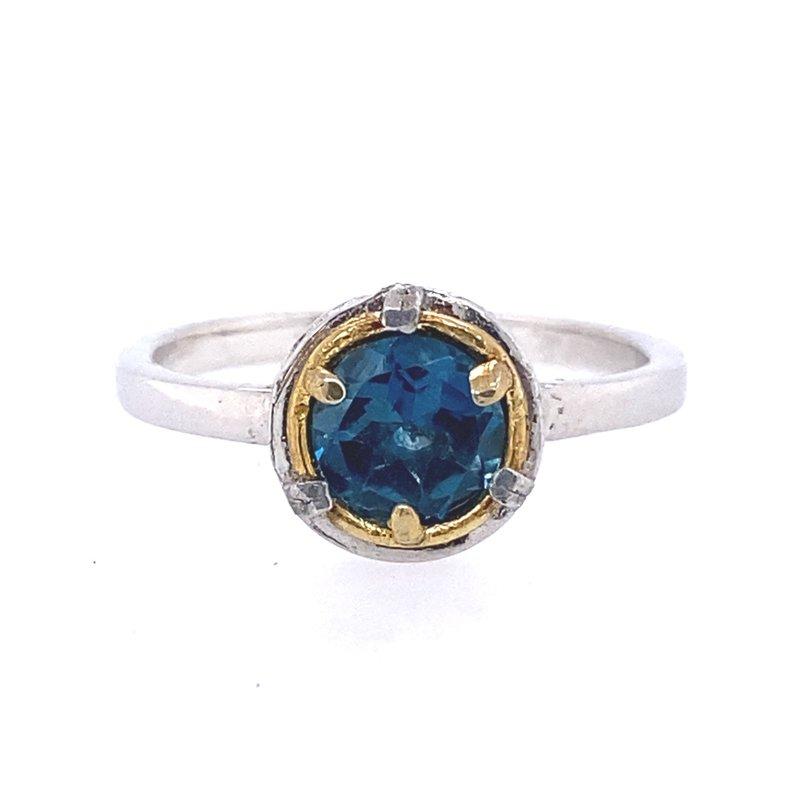 Anatoli Jewelry London Blue Topaz Ring