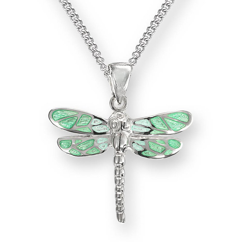 Nicole Barr Designs IN-STORE Collection Green Dragonfly Pendant